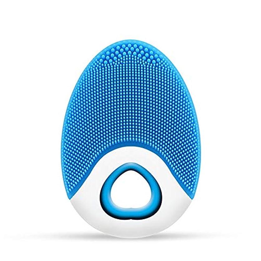 コート先住民買い手CoolTack   1ピースシリコンフェイスクレンザーブラシ超音波ディープクリーニング防水ワイヤレス充電