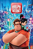"Wreck It Ralph 2: Ralph Breaks The Internet - 映画ポスター (サイズ: 24 x 36インチ) Black Poster Hanger - 24"""