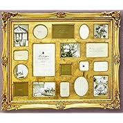 「アンティークスタイルフォトフレーム 18ウィンドー・ゴールド 」ラグジュアリー・アンティーク (壁掛けフォトフレーム)(結婚祝い 結婚内祝い ウエディング)(出産祝い 出産内祝い)(誕生日プレゼント)[フォトフレーム通販]
