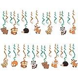 Perfeclan 約30枚 渦巻き キッズ誕生日パーティー ベビーシャワー 吊り装飾 漫画動物