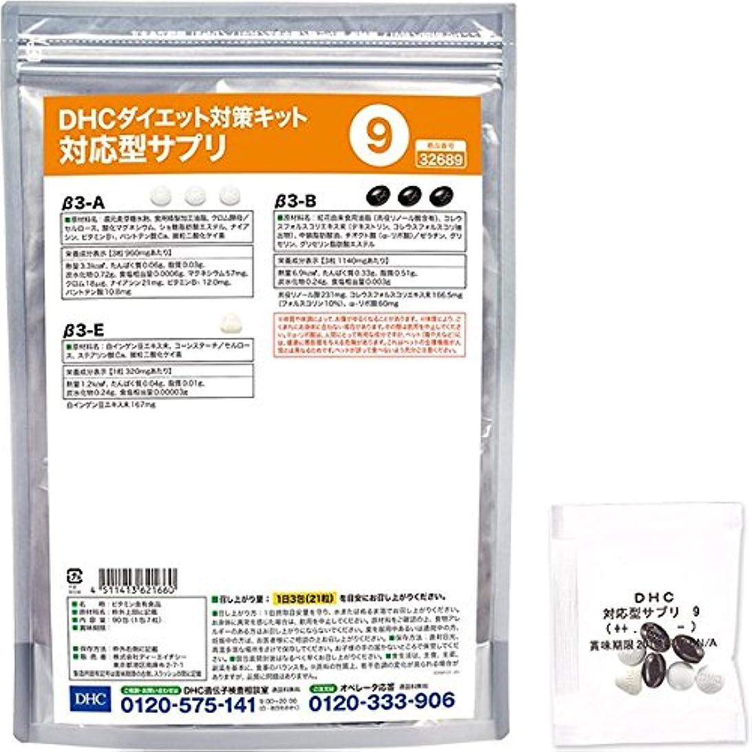 酸素強風プレミアムDHCダイエット対策キット対応型サプリ9