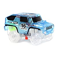 JAGETRADE LED Car Toy for DIY Miraculous Magical Track Glowing In Dark Bend Flex Racing