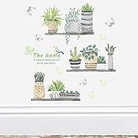 Dragon Honor ウォールステッカー 植物 盆栽 サボテン 爽やか 夏 自然風 DIY 壁紙シール 壁の装飾 おしゃれ