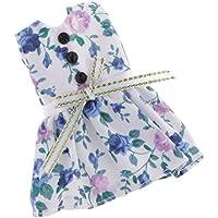 Lovoski  人形 かわいい 花柄 袖なし ドレス 20cm 8インチブライスドール適用 装飾