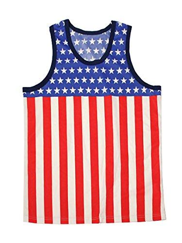 アメリカ国旗 タンクトップ USA 衣装 米国 ものまね 余興 忘年会 結婚式 パーティー FREE