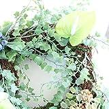 グランドグルー リース 多肉植物 観葉植物 造花 玄関 ハンドメイド アーティフィシャルフラワー