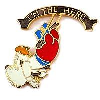 限定 レア ピンバッジ ドルーピー犬ターナー漫画バセットハウンド英雄サーカス空中ブランコ演技 ピンズ フ