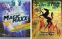 マジックマックス Magic Maxx ウエットティッシュ (8枚入) Super STUD 007 ティッシュタイプ スーパースタッド 007 (6枚入) 携帯に便利な梱包タイプ okamo オリジナルパック (2箱セット) [並行輸入品]