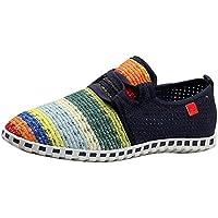 Gaorui Women's Espadrilles Comfort Ballet Flat Boat Shoe Slip On Canvas Knitt Loafer