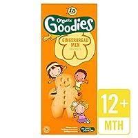 Organixは、135グラムの有機ジンジャーブレッド男性グッズ (x 4) - Organix Goodies Organic Gingerbread Men 135g (Pack of 4) [並行輸入品]