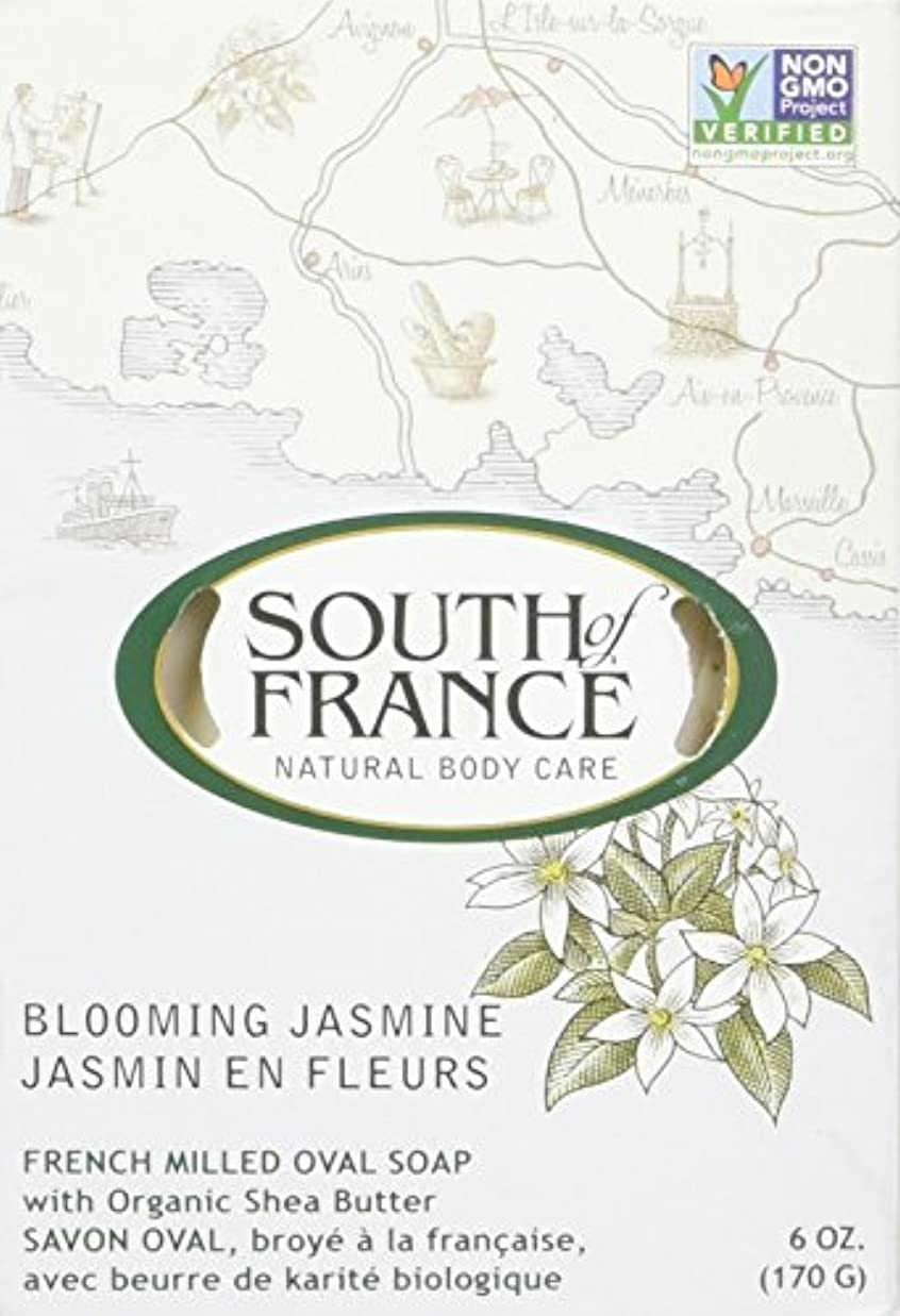 South of France - フランスの製粉された野菜棒石鹸の咲くジャスミン - 6ポンド