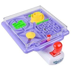 Tilt Maze Game by gamieac、4in 1Mazes W / Tiltingジョイスティック–ボーナスI ' m a gamieac 'チャレンジ'–Super Funパズルゲーム子供&大人–Educativeおもちゃをフォーカス、モータースキル、& Reasoning