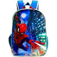 Spiderman School Backpack with LED Flashing Light,Official Licensed.