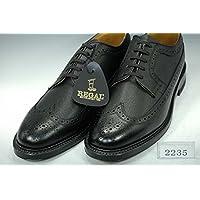 [リーガル] REGAL 2235NA メンズ ビジネスシューズ スコッチグレインウィングチップ ブラック 25.5