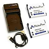 【 6ヶ月保証 】 ニコン EN-EL19 *バッテリー2個 + USB充電器 Nikon Coolpix S6600 S6500 S5200 S4400 互換バッテリー ...Nucleus Power製(EL19*2+充電器)