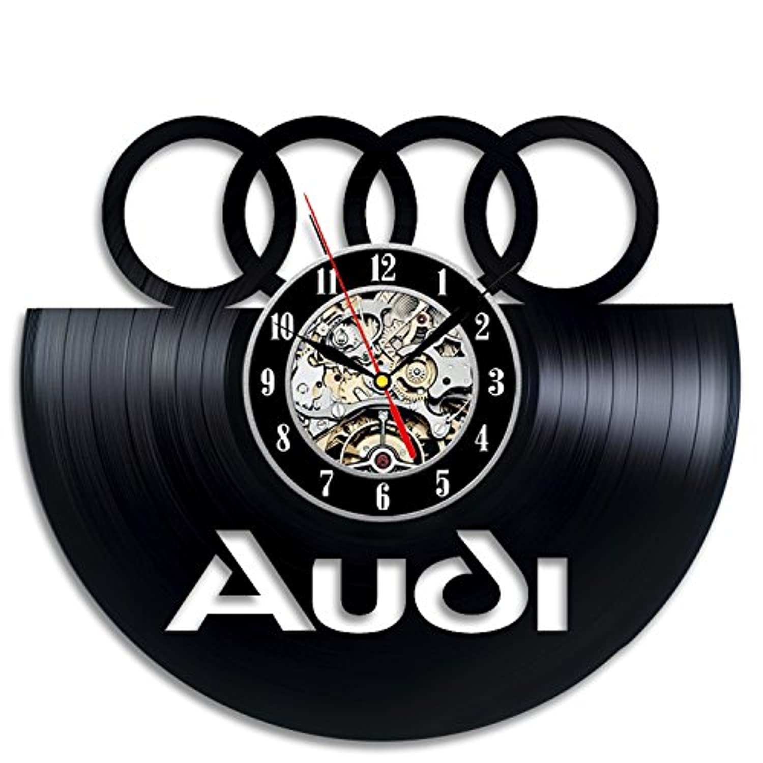 Audi Gift Art Decor Wall Clock Home Record Vintage Decoration - Win a prize for feedback