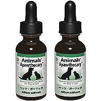 Animals' Apawthecary アニマルズアパスキャリー ペット用ハーブサプリメント ペッツ・ガーリック 1オンス 29.5ml 2個セット