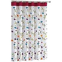 gardenlightess シャワーカーテン 間仕切り 防水 防カビ 目隠し用 リング付属 120×180cm 取付簡単 フラワー