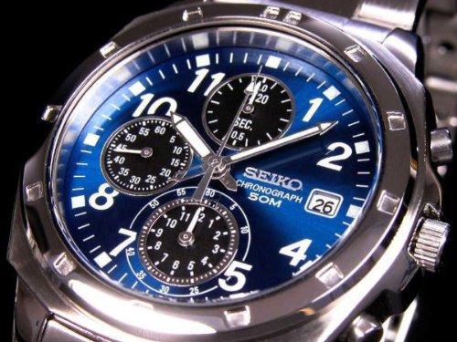 セイコー SEIKO クロノグラフ 腕時計 SND193 腕...