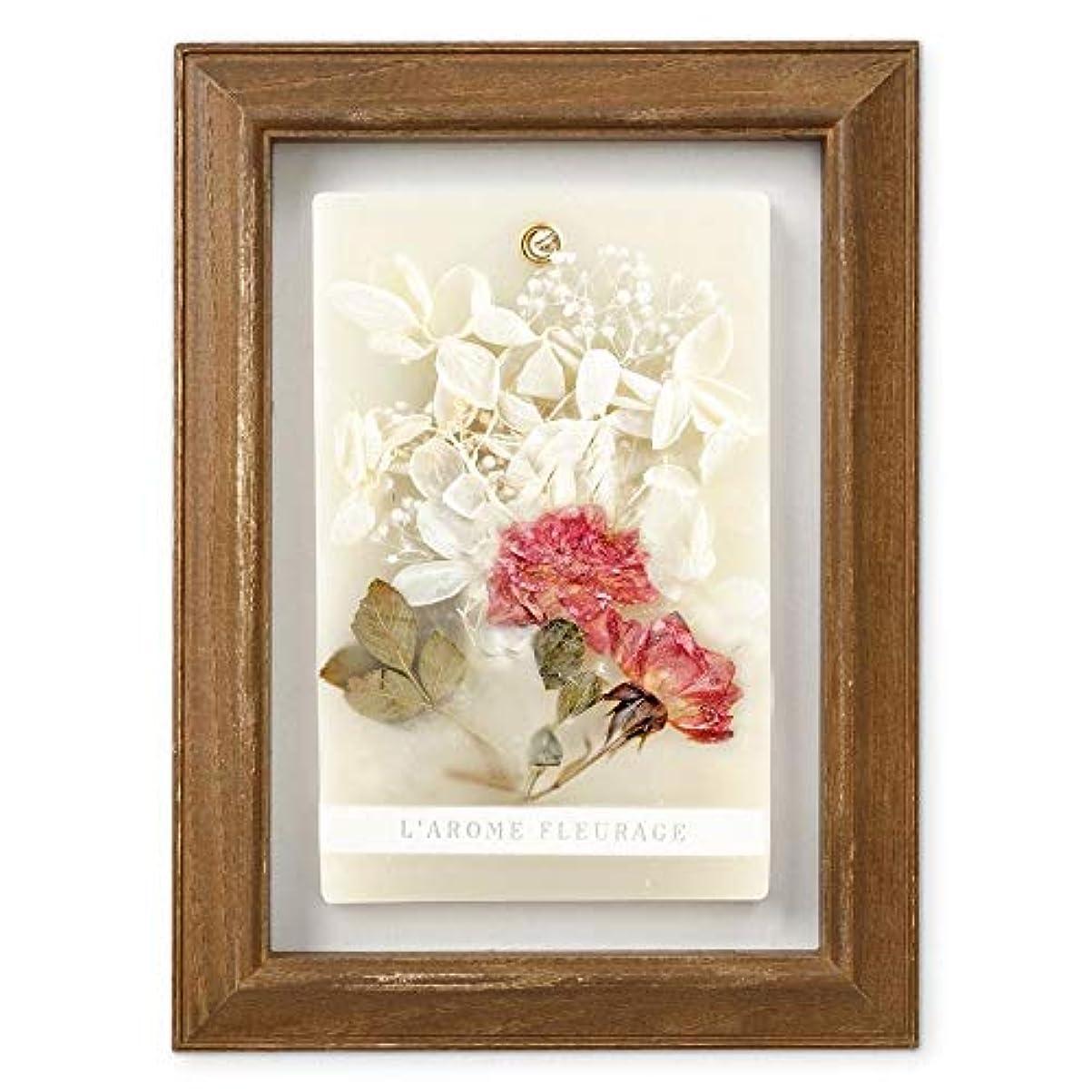 オーバーコート統治可能ファイアルFLEURAGE(フルラージュ) アロマワックスサシェ ワイルドローズの香り Rose×AntiqueBrown KH-61122