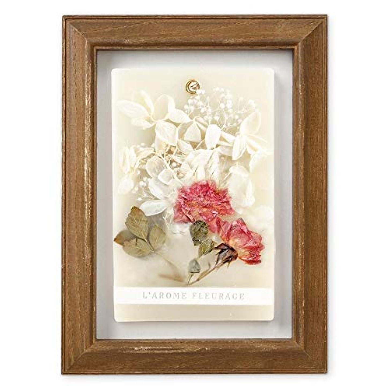 ワット葉を集めるハンドブックFLEURAGE(フルラージュ) アロマワックスサシェ ワイルドローズの香り Rose×AntiqueBrown KH-61122