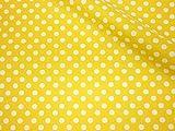 LECIEN (ルシアン) Color Basic 5mm ドット シーチング 生地 綿100% 約110cm巾×50cmカット col.LY イエロー 4506