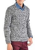 ニット メンズ カットソー セーター カシミアタッチ Vネック ニットソー 薄手 ニットセーター【q146】 スペード画像⑧