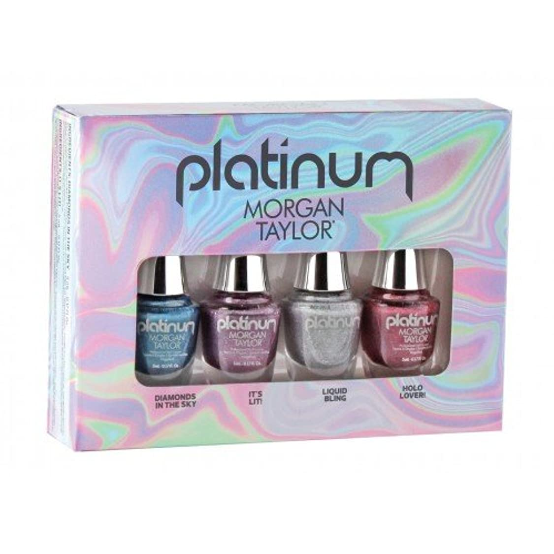 ビジュアル残高帝国主義Morgan Taylor Nail Lacquer - Platinum Collection - Mini 4 pk Set - 5 mL / 0.17 oz