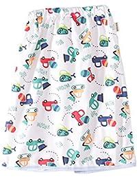 おねしょケット スカートタイプ おねしょ対策ケット スカート 防水 通気 天然綿100% 男の子 車 可愛いプリント ウエスト50~60cm 長さ53cm 3-5歳