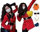 平野ノラ 衣装 なりきり4点セット 【サイズS〜キッズ】 コスプレ 仮装 バブリー美奈子 ディスコ メンズ 男性