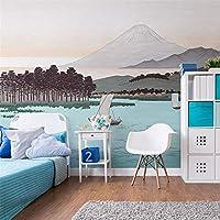 Ljjlm 手塗りの大きなカスタム風景3Dの壁写真壁画の壁紙寝室の部屋の壁画の背景壁の壁画壁画-260X180CM