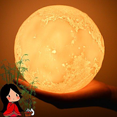 Besego 夜間ライト 3色切替 月ライト「直径15cm ...