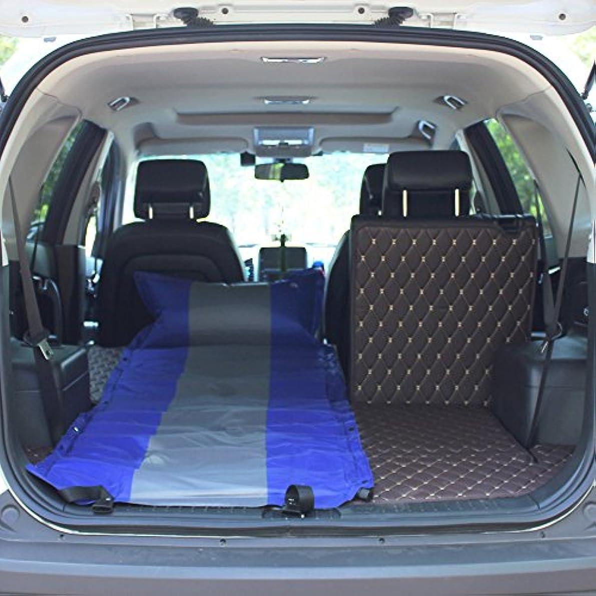 伝染病拒絶する違法YJH+ アウトドアシングルダブルSUV自動インフレータブルマットレスカーベッドインフレータブルベッドカー車のベッドショックベッドインフレータブルクッション 美しく、寛大な ( 色 : 青 , サイズ さいず : A )