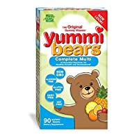 Hero Nutritional Products, Yummi Bears, Multi-Vitamin & Mineral, Natural Fruit Flavors, 90 Gummy Bears