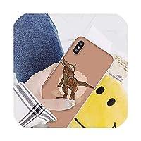 かわいい漫画恐竜Coqueシェル電話ケースIphone 8 7 6 6 sプラスX Xs最大5 5 s Se Xrカバー、iphone 11、A7