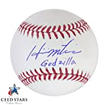 松井秀喜 直筆 サイン + インスクリプション 入り MLB 公式ボール 国民栄誉賞受賞者 MLBヤンキース JSA社 筆跡鑑定シリアルナンバー証明書 シードスターズ真正証明書付き