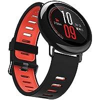 4色for Xiaomi huami Amazfitスマート時計バンド、22 mmソフトシリコン交換用バンド、調節可能なスポーツストラップリストバンドブレスレットアクセサリーfor Xiaomi huami Amazfitスマート腕時計