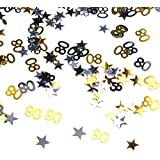 FLAMEER 誕生日紙吹雪 キラキラ ナンバー 60/80 手作り装飾 2仕様選べ - 80
