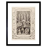 William Blake British Creation Art Picture Framed Wall Art Print イギリス人画像壁