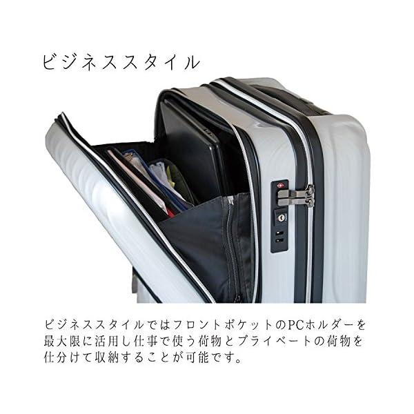 スーツケース 機内持込 軽量 小型 フロントオ...の紹介画像5