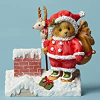 Santa on Rooftop with Toys by Cherished Teddies Collection