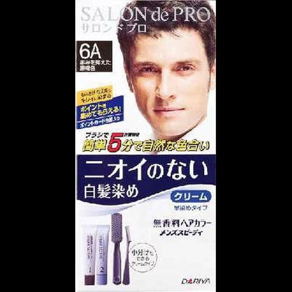 【まとめ買い】無香料ヘアカラーメンズスピーディ 6A 40g+40g ×2セット