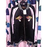ディズニーランド TDL 限定 くまのプーさん ティガー 刺繍 スカジャン タイガー 黒 ブラック mサイズ 羽生結弦