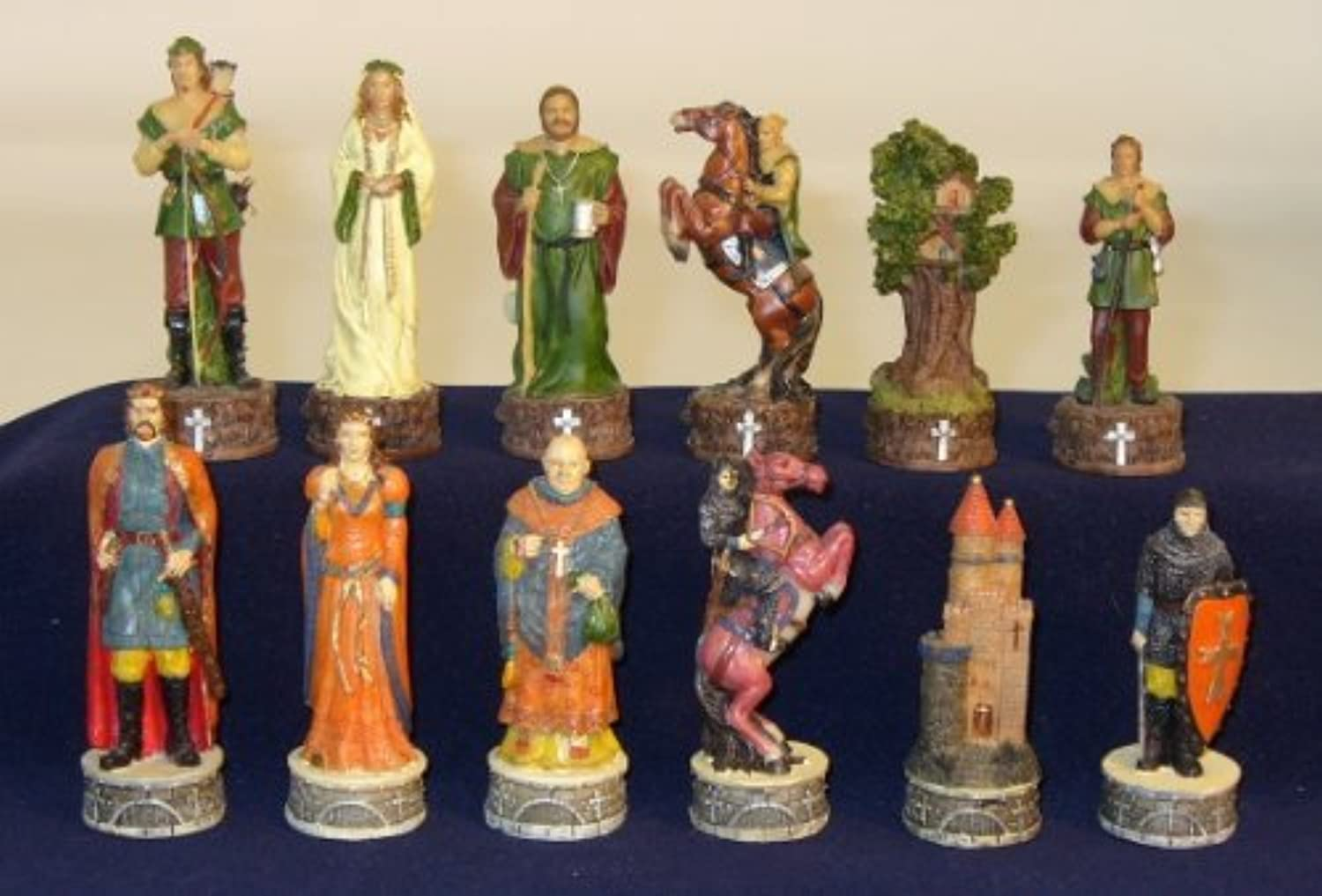 Robin Hood Painted Resin Chess Pieces by World Wise [並行輸入品]