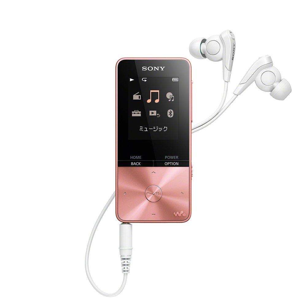 ソニー SONY ウォークマン Sシリーズ 16GB NW-S315 : Bluetooth対応 最大52時間連続再生 イヤホン付属 2017年モデル ライトピンク NW-S315 PI