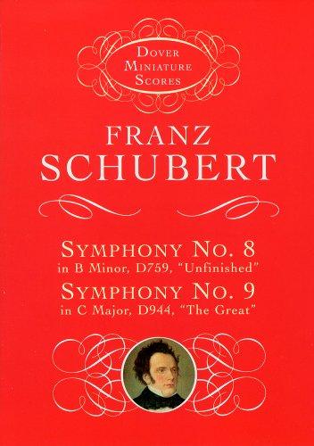 シューベルト: 交響曲 第7番 (旧第8番) ロ短調 D. 759 「未完成」、第8番 (旧第9番)ハ長調 D. 944 「グレート」/ドーヴァー社/小型スコア