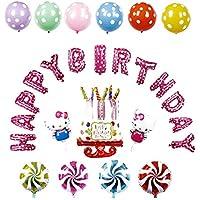 アルミニウムフォイルハローキティ女性の誕生日 バルーン カラフル パーティー小物 飾り 屋外 誕生日 パーティ 文化祭やハロウィン 装飾 風船