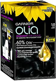 Garnier Olia Permanent Hair Colour 1.0 Night Black (Ammonia Free, Oil Based)