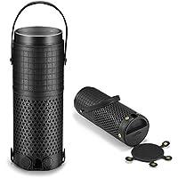 DVO Amazon Echo Plus ケース  アマゾン・エコープラス カバー レザー 柔らかい 取っ手付き (ブラック)