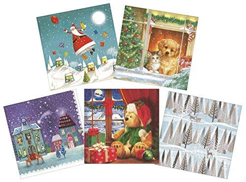 RoomClip商品情報 - ヂャンティ ペーパーナプキン クリスマス 5柄セット 各柄3枚入 スノーナイト CL-NC50